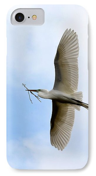 Great Egret In Flight IPhone Case by Richard Bryce and Family