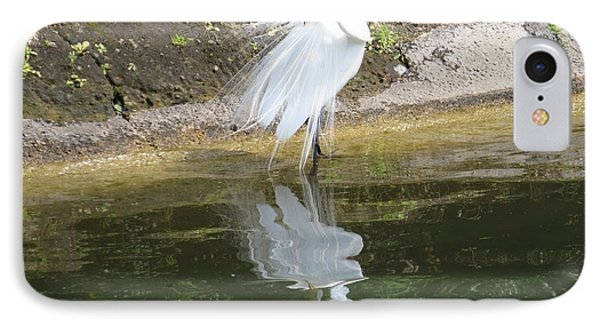 Great Egret In The Lake IPhone Case