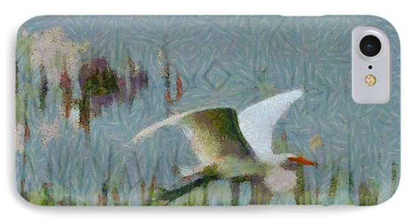 Great Egret Painting IPhone Case by Dan Sproul