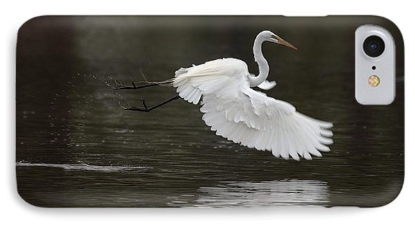 Great Egret Takeoff Phone Case by Gary Langley