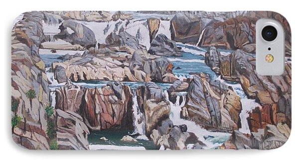 IPhone Case featuring the painting Great Falls 1 by Hilda and Jose Garrancho