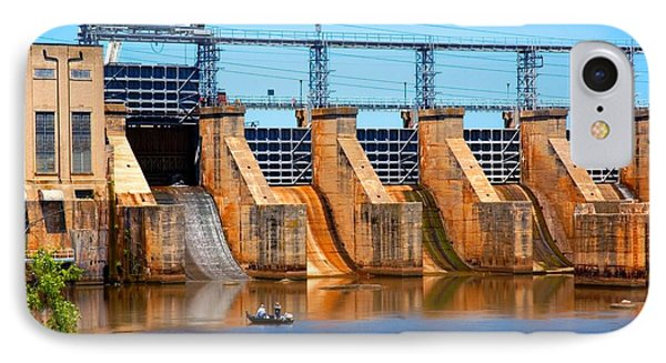 Great Falls Dam IPhone Case by Bob Pardue