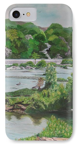 IPhone Case featuring the painting Great Falls II by Hilda and Jose Garrancho