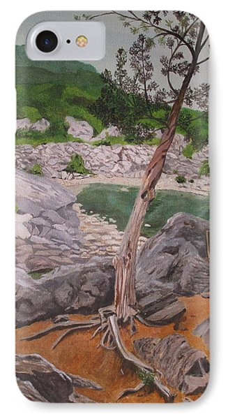 IPhone Case featuring the painting Great Falls IIi by Hilda and Jose Garrancho