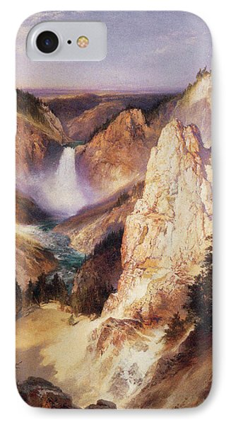 Great Falls Of Yellowstone IPhone Case by Thomas Moran