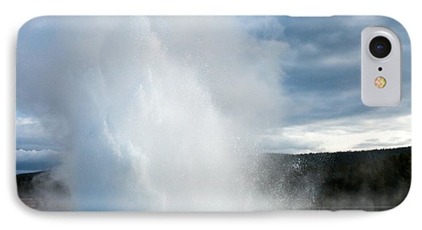 Great Fountain Geyser Along Firehole Lake Drive IPhone Case by Fred Stearns