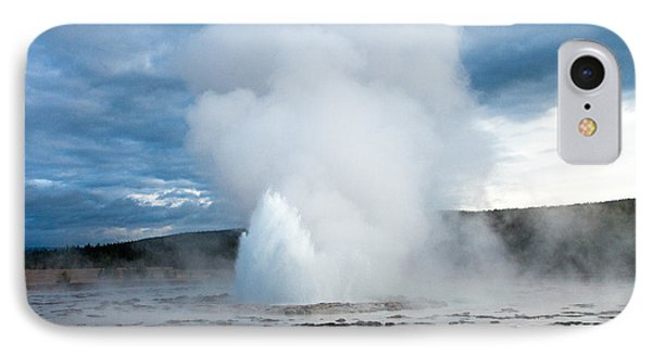 Great Fountain Geyser On Firehole Lake Drive IPhone Case by Fred Stearns