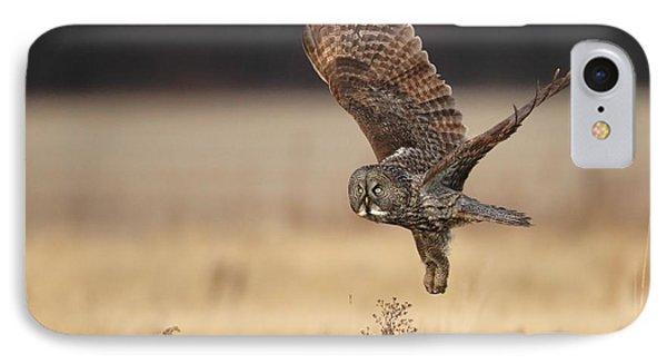 Great Gray Owl Liftoff Phone Case by Daniel Behm