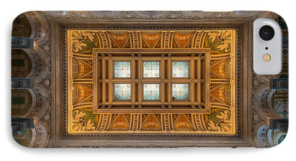 Great Hall Ceiling Library Of Congress Phone Case by Steve Gadomski