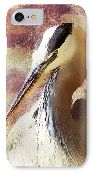 Great Heron Portrait IPhone Case