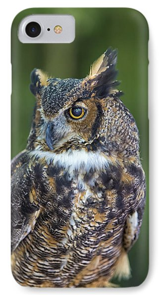 Great Horned Owl IPhone Case by Bill Tiepelman