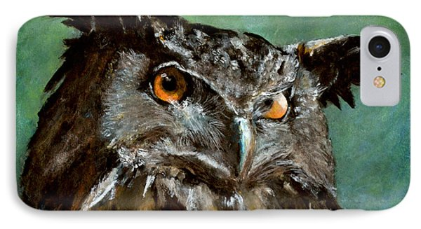 Great Horned Owl Phone Case by Carlo Ghirardelli