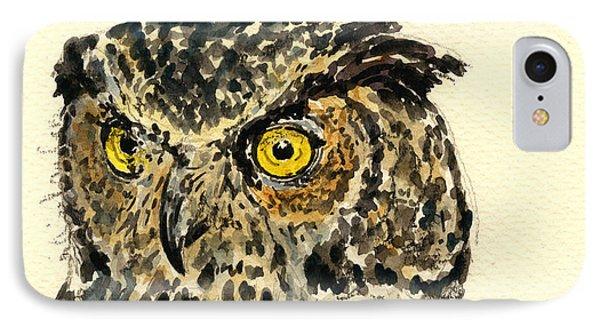 Great Horned Owl IPhone Case by Juan  Bosco