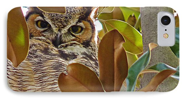 IPhone Case featuring the photograph Great Horned Owl by Meghan at FireBonnet Art