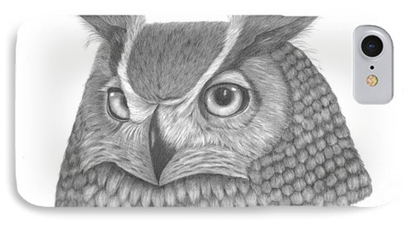Great Horned Owl IPhone Case by Patricia Hiltz