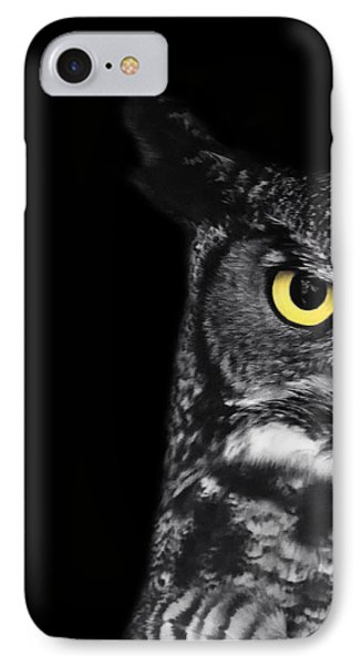 Great Horned Owl Photo IPhone Case by Stephanie McDowell