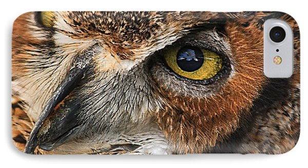 IPhone Case featuring the photograph Great Horned Owl by Tammy Schneider
