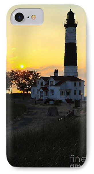 Great Lakes Lighthouse Big Sable Point IPhone Case by Terri Gostola