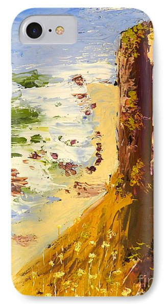 IPhone Case featuring the painting Great Ocean Road by Pamela  Meredith