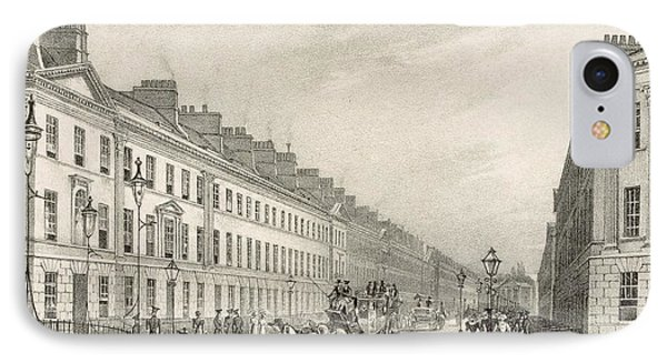 Great Pultney Street, Bath, C.1883 IPhone Case by R. Woodroffe