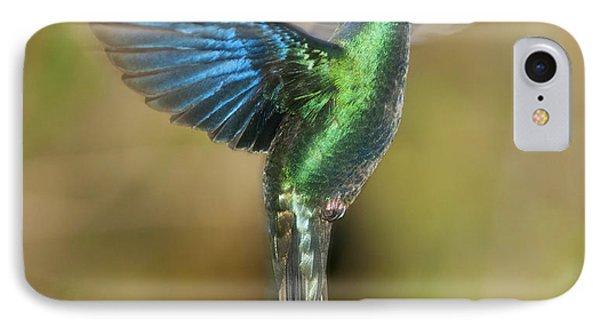 Great Sapphirewing Hummingbird Phone Case by Dan Suzio
