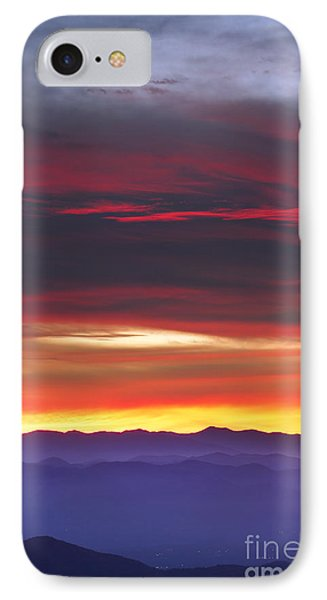Great Smokie Mountains Beautiful Sunset IPhone Case by Dustin K Ryan