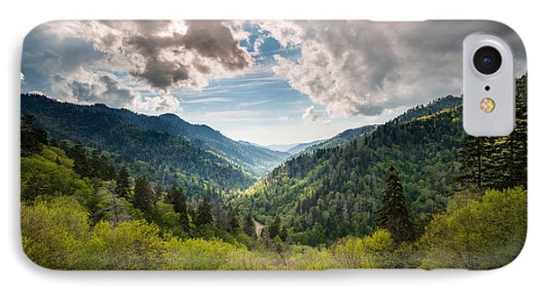 Great Smoky Mountains Landscape Photography - Spring At Mortons Overlook Phone Case by Dave Allen