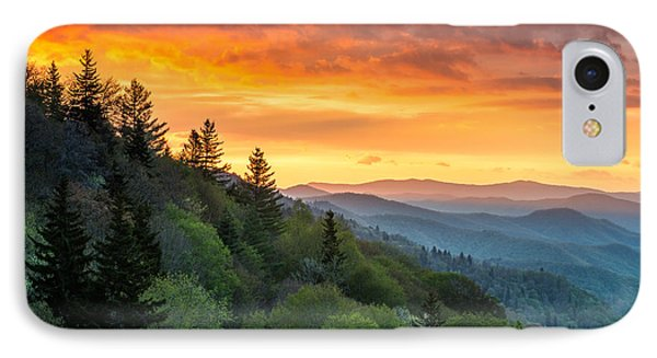 Great Smoky Mountains North Carolina Scenic Landscape Cherokee Rising IPhone Case by Dave Allen
