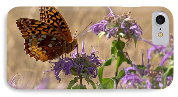Great Spangled On Bee Balm IPhone Case by Shelly Gunderson