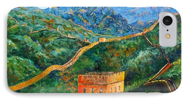 Great Wall IPhone Case by Lou Ann Bagnall