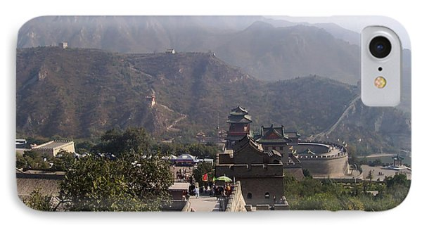 Great Wall Of China At Badaling IPhone Case by Debbie Oppermann