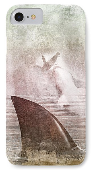 Great White Attack IPhone Case by Davina Washington