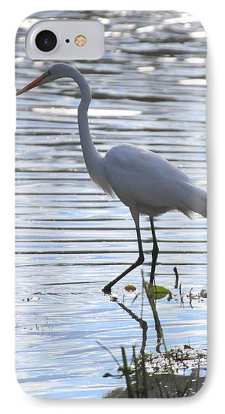 Great White Egret IPhone Case by Coby Cooper