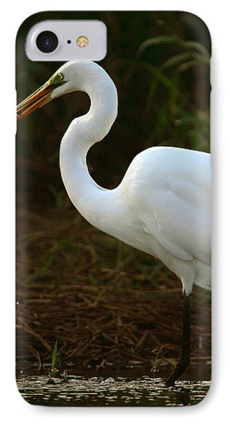 Great White Egret Phone Case by Mark Russell