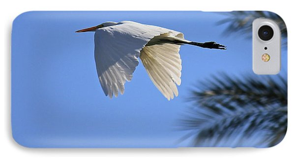 IPhone Case featuring the photograph Great White In Flight by Penny Meyers