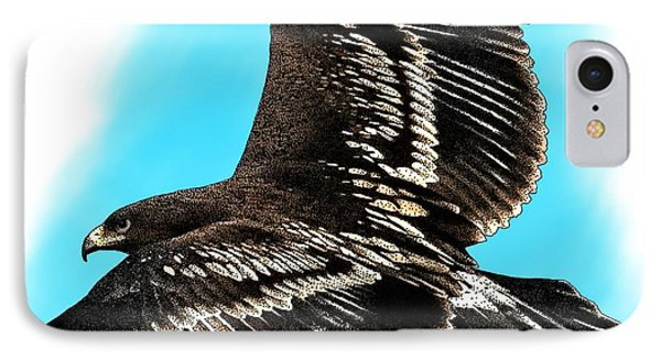 Greater Spotted Eagle IPhone Case