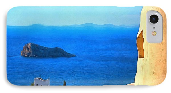 Grecian Blue IPhone Case by Mick Flynn