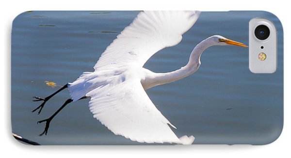 Greeat Egret Flying Phone Case by Thomas Marchessault