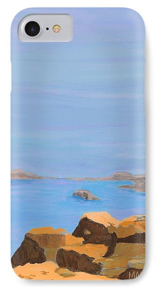 IPhone Case featuring the painting Greece Inlet by Artists With Autism Inc