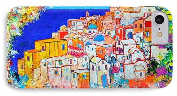 Greece - Santorini Island - Abstract Impression From Oia At Sunset - A Moment In Time Phone Case by Ana Maria Edulescu