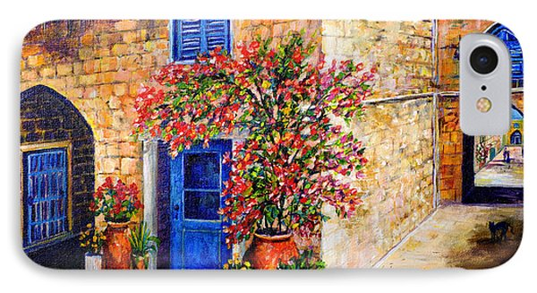 IPhone Case featuring the painting Greek Bouganvillia by Lou Ann Bagnall