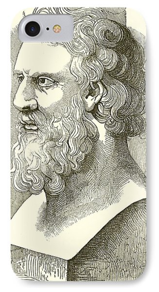 Greek Bust Of Plato IPhone Case by English School