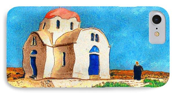 Greek Church 4a Phone Case by George Rossidis