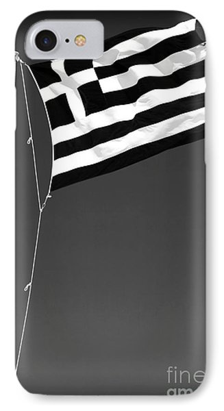 Greek Flag Phone Case by John Rizzuto