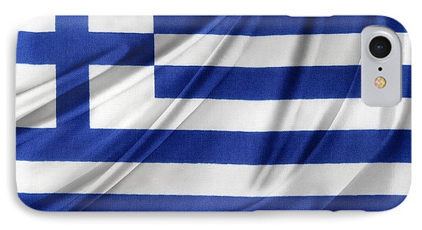 Greek Flag IPhone Case by Les Cunliffe