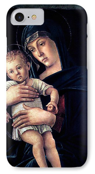 IPhone Case featuring the painting Greek Madonna With Child 1464 Giovanni Bellini by Karon Melillo DeVega
