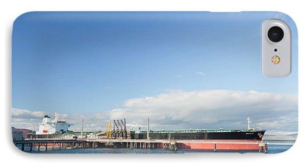 Greek Oil Tanker Docked In Scotland IPhone Case by Ashley Cooper