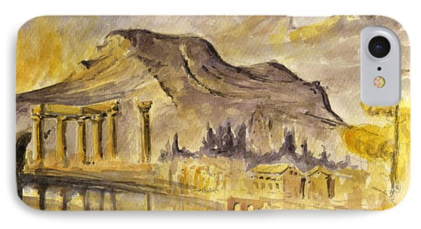 Greek Ruins IPhone Case by Juan  Bosco