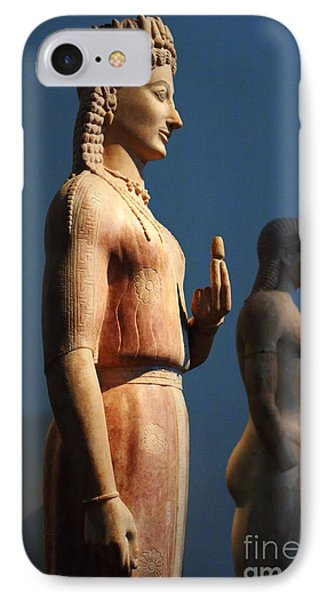 Greek Sculpture Athens 1 Phone Case by Bob Christopher