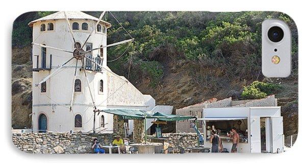 Greek Windmill IPhone Case by Tom Gowanlock